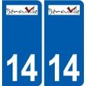 14 Bénouville logo ville autocollant plaque sticker