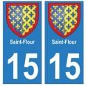 15 Saint-Flour ville autocollant plaque