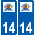 14 Grandcamp-Maisy logo city sticker, plate sticker