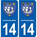 14 Grandcamp-Maisy blason ville autocollant plaque sticker