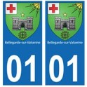 01 Bellegarde-sur-Valserine ville autocollant plaque