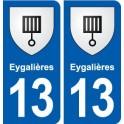 13 Eygalières coat of arms, city sticker, plate sticker