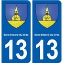 13 Saint-étienne-du-Grès blason ville autocollant plaque sticker