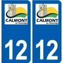 12 Calmont logo ville autocollant plaque sticker
