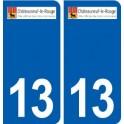 13 Châteauneuf-le-Rouge logo ville autocollant plaque sticker