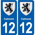 12 Calmont coat of arms, city sticker, plate sticker