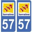 57 Moselle autocollant plaque