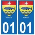 01 Nantua ville autocollant plaque