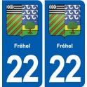 22 Fréhel blason ville autocollant plaque sticker
