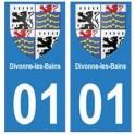 01 Divonne-les-Bains ville autocollant plaque