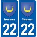 22 Tremuson coat of arms, city sticker, plate sticker