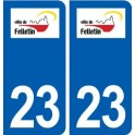 23 Felletin logo ville autocollant plaque sticker