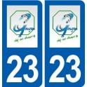 23 Gouzon logo ville autocollant plaque sticker