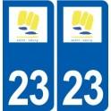 23 Saint-Vaury logo ville autocollant plaque sticker