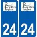 24 Brantôme logo autocollant plaque stickers département