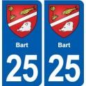 25 Bart blason autocollant plaque stickers