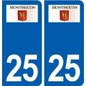25 Montfaucon logo sticker plate stickers