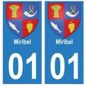 01 Miribel city sticker plate
