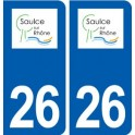 26 Saulce-sur-Rhone logo sticker plate stickers city