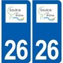26 Saulce-sur-Rhône logo autocollant plaque stickers ville