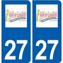 27 Igoville logo autocollant plaque stickers ville