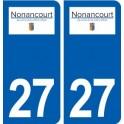 27 Nonancourt logo autocollant plaque stickers ville