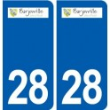 28 Barjouville logo sticker plate stickers city