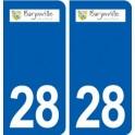 28 Barjouville logo autocollant plaque stickers ville