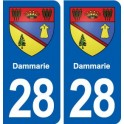 28 Dammarie coat of arms sticker plate stickers city
