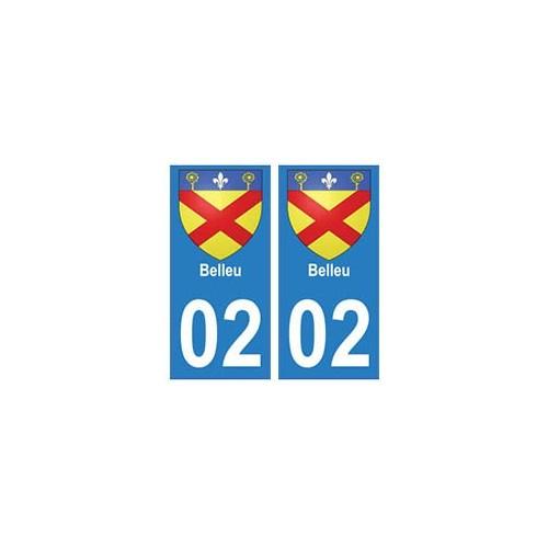 02 Belleu ville autocollant plaque