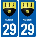 29 Guiclan coat of arms sticker plate stickers city