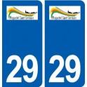 29 Plogastel-Saint-Germain logo autocollant plaque stickers ville