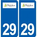 29 Plomodiern logo autocollant plaque stickers ville