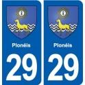 29 Plonéis coat of arms sticker plate stickers city