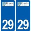 29 Plonéis logo autocollant plaque stickers ville