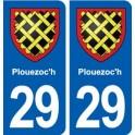 29 Plouezoc'h blason autocollant plaque stickers ville