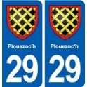 29 Plouezoc'h coat of arms sticker plate stickers city