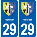 29 Plouider blason autocollant plaque stickers ville