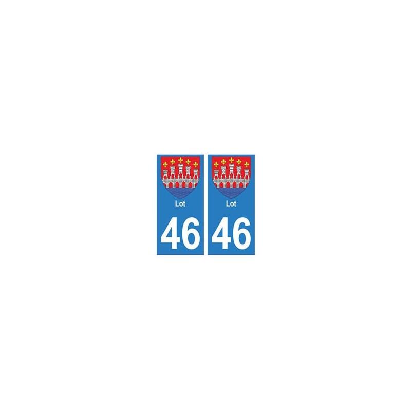 46 lot autocollant plaque immatriculation blason armoiries stickers d partement. Black Bedroom Furniture Sets. Home Design Ideas