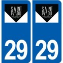 29 Saint-Pabu logo sticker plate stickers city