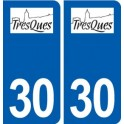 30 Tresques logo ville autocollant plaque stickers