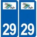 29 Spézet logo autocollant plaque stickers ville