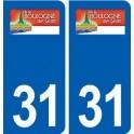 31 Boulogne-sur-Gesse logo ville autocollant plaque stickers