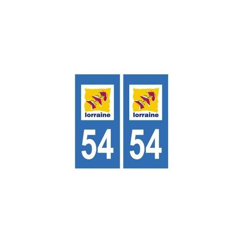 54 Meurthe autocollant plaque