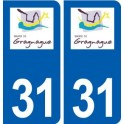 31 Gragnague logo ville autocollant plaque stickers