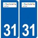 31 Labastidette logo ville autocollant plaque stickers