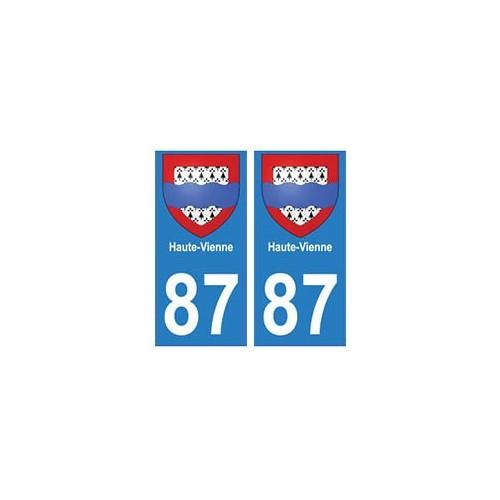 87 Haute-Vienne autocollant plaque blason armoiries stickers département