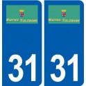 31 Martres-Tolosane logo ville autocollant plaque stickers