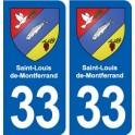 33 Saint-Louis-de-Montferrand blason ville autocollant plaque stickers