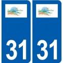 31 Saint-Sulpice-sur-Lèze logo ville autocollant plaque stickers